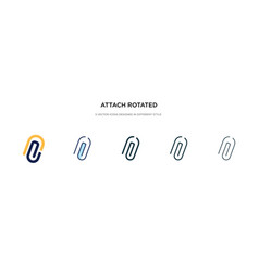 Attach rotated icon in different style two vector