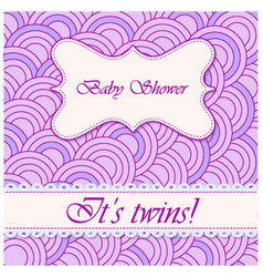Baby-shower-circle-pattern-twins vector