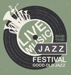 banner for jazz festival live music vector image