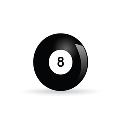 Billiards ball eight vector
