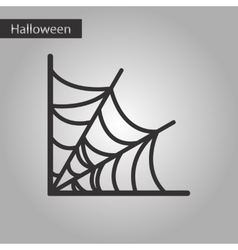 Black and white style icon spiders web vector
