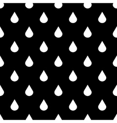 Black and white water drops seamless vector image