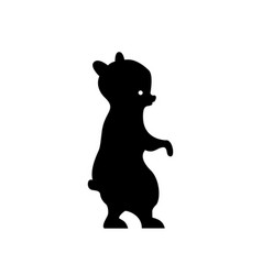 Black bear silhouette vector