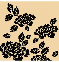 Black roses on isolated background vector image