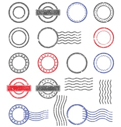 Blank templates shabpostal stamps vector