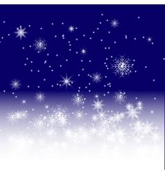 Blue winter night vector