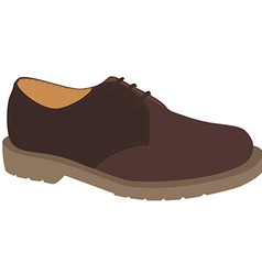 Brown shoe vector image