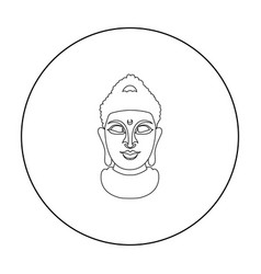 buddha icon in outline style isolated on white vector image