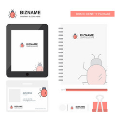 bug business logo tab app diary pvc employee card vector image