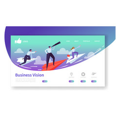 business vision landing page template website vector image