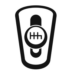 Car auto gearbox icon simple style vector