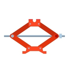 Car jack shot steel repair service vector image