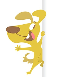 Cartoon dog and banner vector image