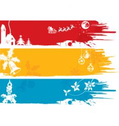 Christmas background banners vector image