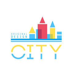 City building abstract logo design concept vector