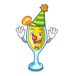 Clown mimosa mascot cartoon style vector