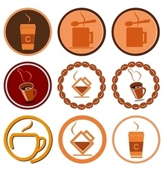 Coffee cafe logo vector