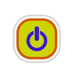 Color label design icon design button music on off vector
