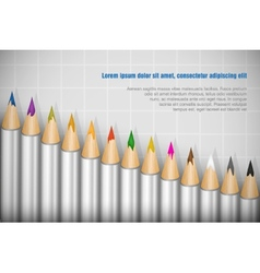 Color pencils set on white background vector