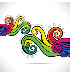 Colorful swirl design background vector