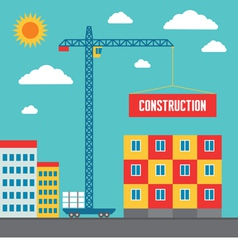 Construction of Building vector