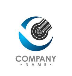 Creative abstract circle tech rotate logo design vector