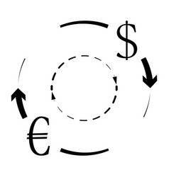 Currency conversion euro dollar vector