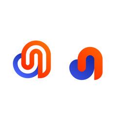d logo monogram vector image