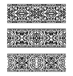 Decorative ornate vintage borders vector