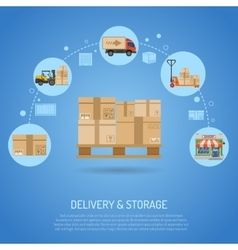 Delivery and storage concept vector image