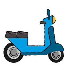 Delivery scooter motor transport icon vector