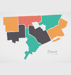 Detroit & Map Vector Images (32)