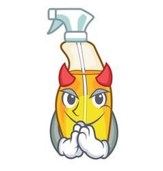 Devil spray bottle on the mascot table vector
