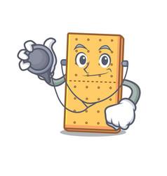 Doctor graham cookies character cartoon vector