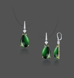 Drop earrings vector