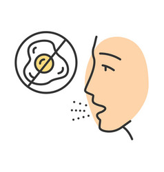 Egg allergy color icon vector