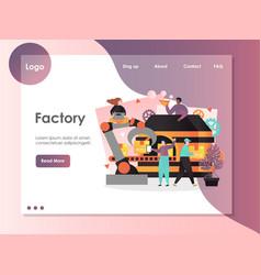 factory website landing page design vector image