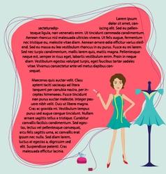 fashion designer label background vector image