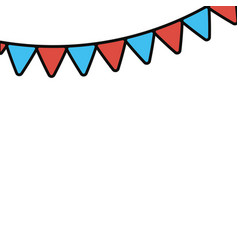 festoon red and blue vector image