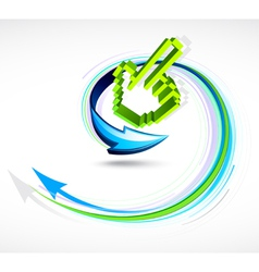 finger pointer and arrow vector image