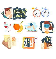 flat set of cartoon infographic elements vector image