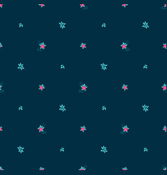 Floral seamless pattern with tiny flowers vector