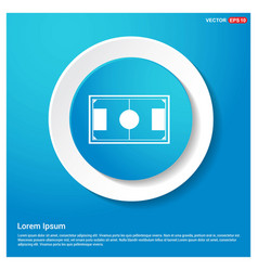 football stadium icon abstract blue web sticker vector image