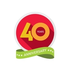 Forty years anniversary logo 40 year birthday vector image
