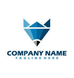 fox unique logo design fox icon logo vector image