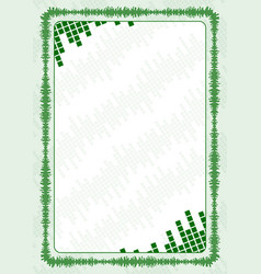 frame and border with green volume levels for vector image