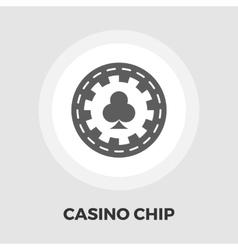 Gambling chips flat icon vector image