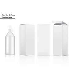 Glossy bottle mock up realistic cosmetic and 3 vector