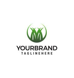 grass logo design concept template vector image