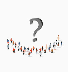 group people with question mark problem vector image